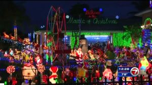 The Christmas display is so full, the Hyatt family's home is barely visible.