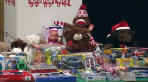 The Polk County Sheriff's Office displayed some of the toys found at Strickland's home. (Photo courtesy: Fox 13)